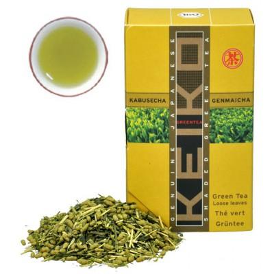 "Japoniška žalioji arbata ""Kabuse Genmaicha"", biri, ekologiška (50 g)"
