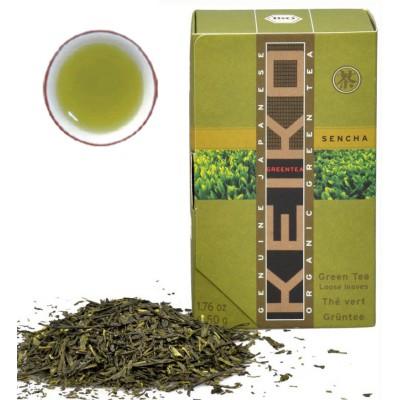 "Japoniška žalioji arbata ""Sencha"", biri, ekologiška (50 g)"