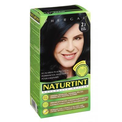 NATURTINT® ilgalaikiai plaukų dažai be amoniako, BLUE-BLACK 2.1 (165 ml)