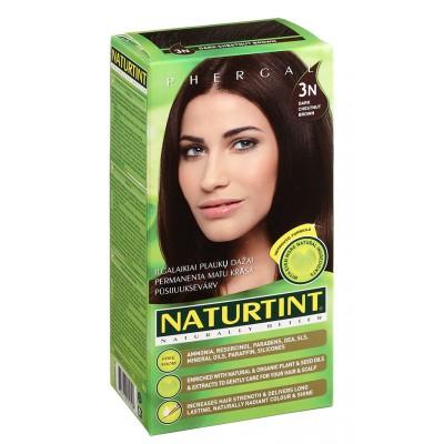 NATURTINT® ilgalaikiai plaukų dažai be amoniako, DARK CHESTNUT BROWN 3N (165 ml)