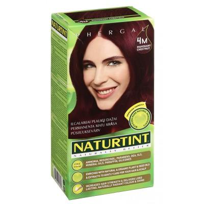 NATURTINT® ilgalaikiai plaukų dažai be amoniako, MAHOGANY CHESTNUT 4M (165 ml)