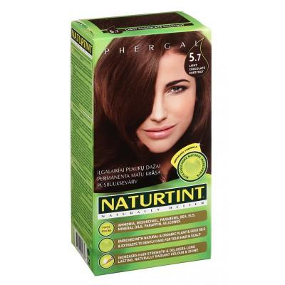 NATURTINT® ilgalaikiai plaukų dažai be amoniako, LIGHT CHOCOLATE CHESTNUT 5.7 (165 ml)