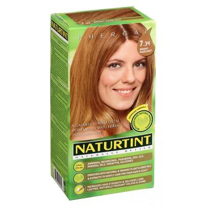 NATURTINT® ilgalaikiai plaukų dažai be amoniako, BRIGHT HAZELNUT 7.34 (165 ml)