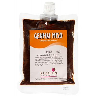 Sojų ir rudųjų ryžių pasta GENMAI MISO, ekologiška (345 g)