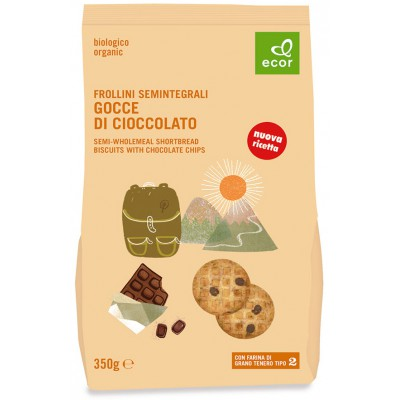 Sausainiai su šokolado gabaliukais, ekologiški (350 g)