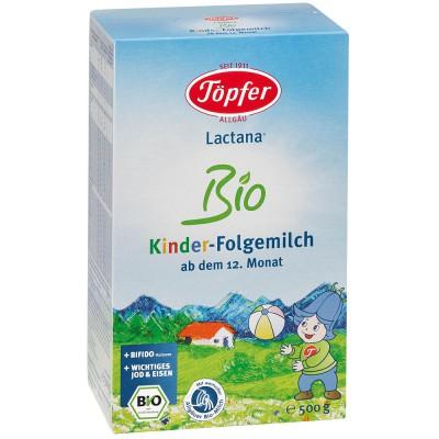 LACTANA BIO pieno mišinys vaikams, vyresniems kaip 12 mėn., ekologiškas (500 g)
