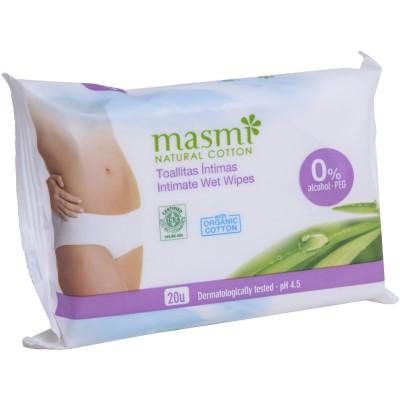 Drėgnos medvilnės servetėlės intymiai higienai, ekologiškos (20 vnt.)
