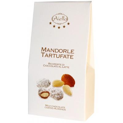 Migdolai pieniškame šokolade, ekologiški (90 g)