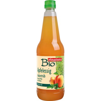 Neskaidrintas obuolių sidro actas, ekologiškas (750 ml)