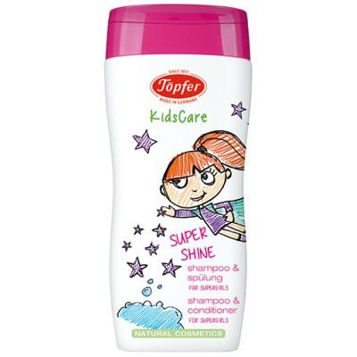 """Šampūnas ir kondicionierius mergaitėms """"Supershine"""" (200 ml)"""