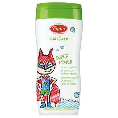 """Prausiklis ir šampūnas berniukams """"Superpower"""" (200 ml)"""