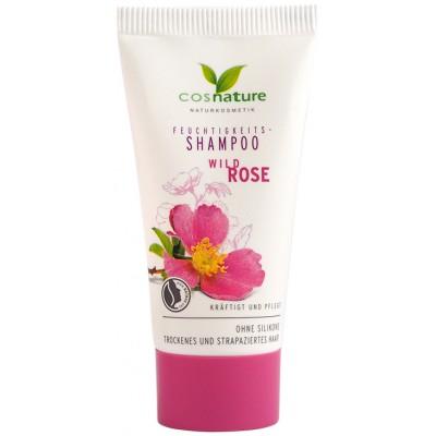 Drėkinamasis šampūnas su erškėtrožėmis, mėginėlis (30 ml)