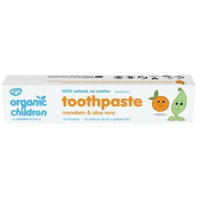 Dantų pasta kūdikiams ir vaikams su mandarinais ir alaviju, ekologiška (50 ml)