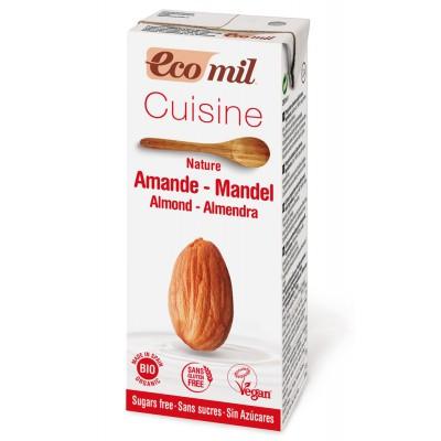 Migdolų kremas kulinarijai be cukraus, ekologiškas (200 ml)