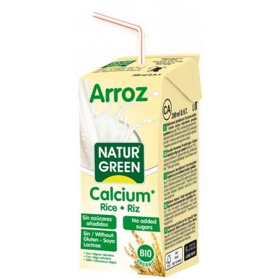 Ryžių gėrimas su kalciu, ekologiškas (200 ml)