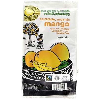 Džiovintų mangų skiltelės, ekologiškos (100 g)
