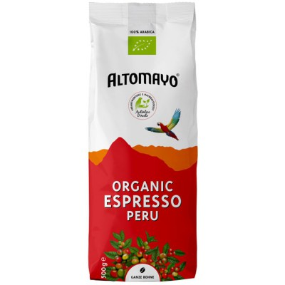 "Kavos pupelės ""Organic espresso"", ekologiškos (500 g)"