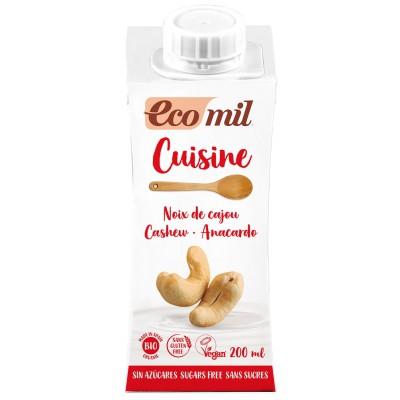 Anakardžių kremas kulinarijai be cukraus, ekologiškas (200 ml)