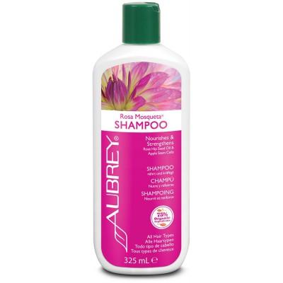 Drėkinamasis ROSA MOSQUETA šampūnas. Saugo spalvą (325 ml)