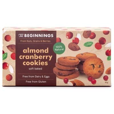 Migdolų sausainiai su spanguolėmis (80 g)