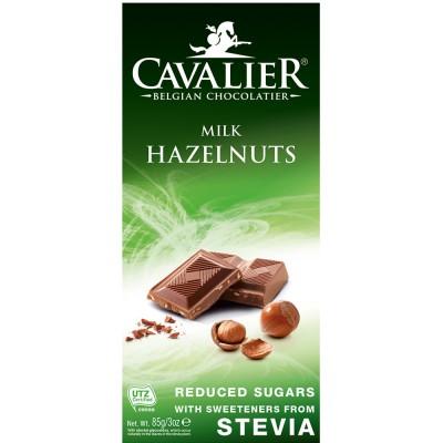 Pieniškas šokoladas su lazdynų riešutais (85 g)