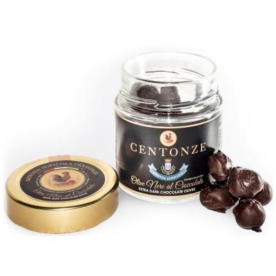 Alyvuogės juodajame šokolade (120 g)