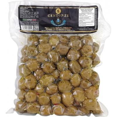 Žaliosios alyvuogės extra virgin alyvuogių aliejuje (500 g)