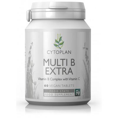 """B vitaminų kompleksas su vitaminu C """"Multi B Extra"""". Maisto papildas (60 tabl.)"""
