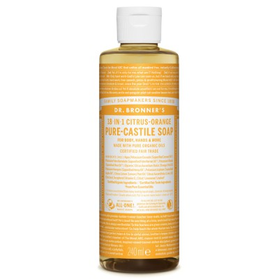 Skystas Kastilijos muilas veidui ir kūnui su citrusais, ekologiškas (240 ml)