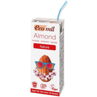 Migdolų gėrimas be cukraus, ekologiškas (200 ml)