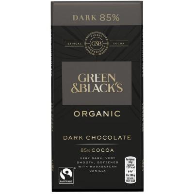 Juodasis šokoladas 85%, ekologiškas (90 g)