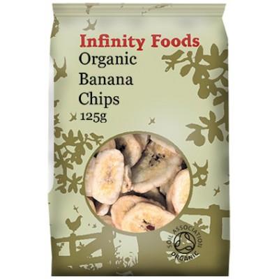 Džiovinti bananai, ekologiški (125 g)