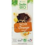 Juodasis šokoladas su apelsinais, ekologiškas (100 g)