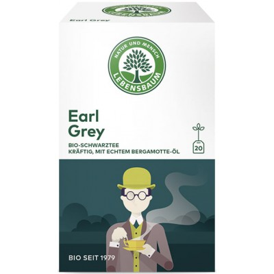 "Juodoji arbata ""Earl Grey"", ekologiška (20 pak. x 2 g)"