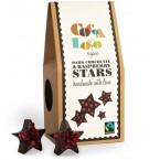 Juodojo šokolado žvaigždutės su avietėmis, ekologi...