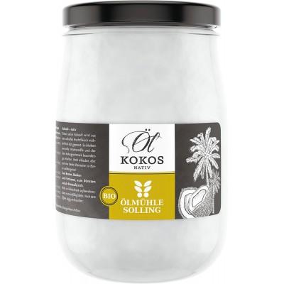 Kokosų aliejus stikliniame inde, ekologiškas (1 l)