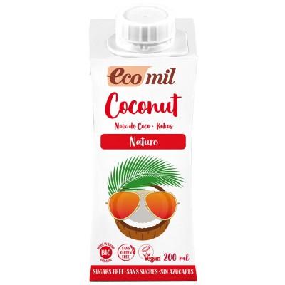 Kokosų pienas be cukraus, ekologiškas (200 ml)