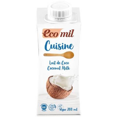 Kokosų pienas kulinarijai, ekologiškas (200 ml)