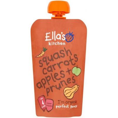 Moliūgų, morkų, obuolių, slyvų tyrelė kūdikiams nuo 4 mėn., ekologiška (120 g)