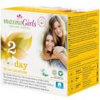 """Labai ploni higieniniai paketai su sparneliais dienai """"Masmi Girls"""", ekologiški (10 vnt.)"""