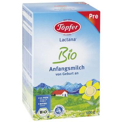 LACTANA BIO PRE pradinio maitinimo pieno mišinys kūdikiams, iki 6 mėn., ekologiškas (600 g)