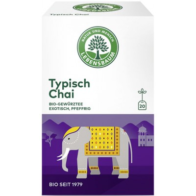 "Arbata ""Typisch Chai"" su prieskoniais, ekologiška (20 pak. x 2 g)"