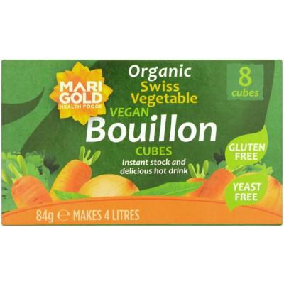 Šveicariškas daržovių sultinys kubeliais be mielių ŽALIAS, ekologiškas (84 g)