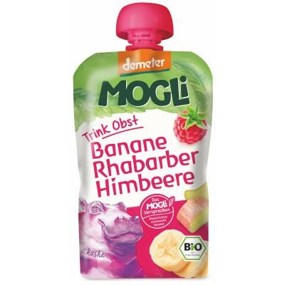 Mauglio bananų, rabarbarų ir aviečių tyrelė, biodinaminė (100 g)