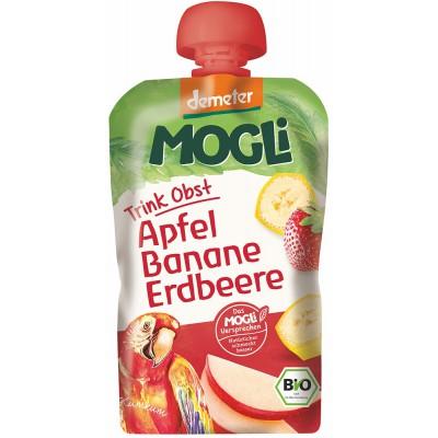 Mauglio obuolių, bananų ir braškių tyrelė, biodinaminė (100 g)