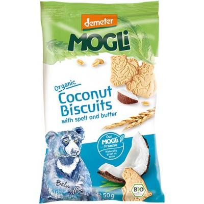 Kokosiniai sausainiai su spelta ir sviestu, biodinaminiai (50 g)
