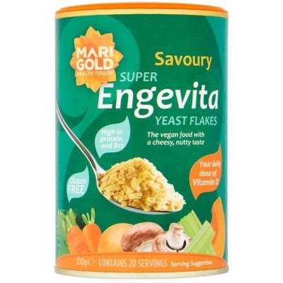 Maistinių mielių dribsniai ENGEVITA su vitaminu D (100 g)