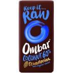 Juodasis šokoladas su kokosais, ekologiškas (35 g)