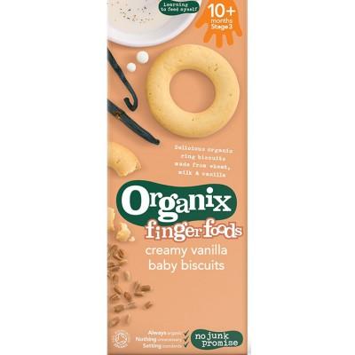 Vanilės skonio sausainiai kūdikiams nuo 10 mėn., ekologiški (54 g)