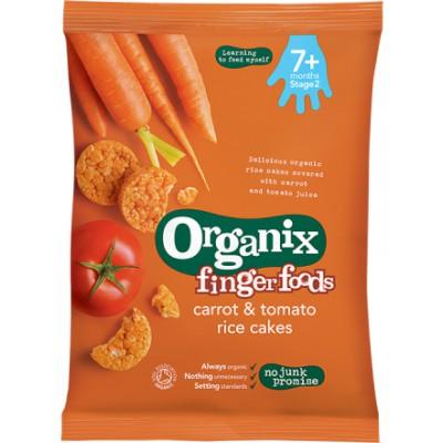 Ryžių trapučiai su morkomis ir pomidorais kūdikiams nuo 7 mėn., ekologiški (50 g)